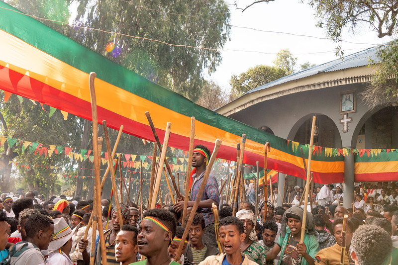 ETHIOPIA, GONDAR, TIMKAT, SATURDAY