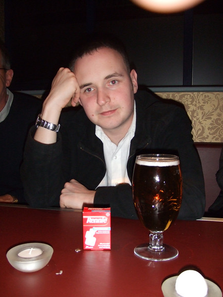 Tim's second pint didn't go down at all.