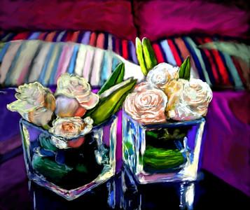 Rose vases