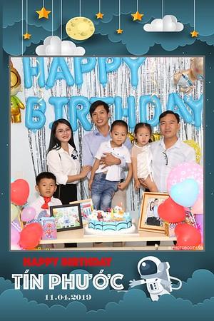 Tin's 1st Birthday instant print photo booth @ Saigon - chụp hình lấy liền Tiệc Thôi nôi tại TP. HCM