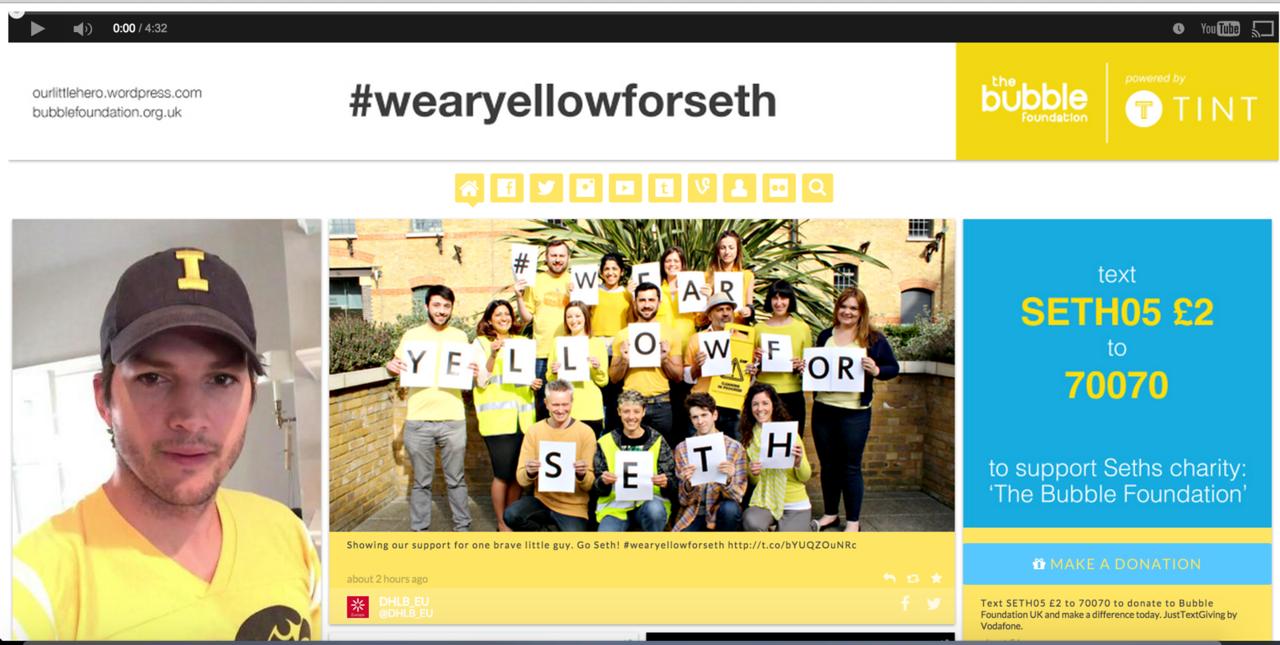 wear yellow for seth