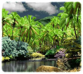 "Bouma River, Fiji  paper 8""x9"" $110 paper 27x30 $800  canvas 27x30 $880  canvas 38x42 $1740"