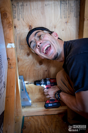 Yes Gabe, you're doing a good job  Read more here: http://tinyhousegiantjourney.com/2013/11/20/strapping-sheathing-framing-bbbbq-9/ Follow us here: www.facebook.com/tinyhousegiantjourney
