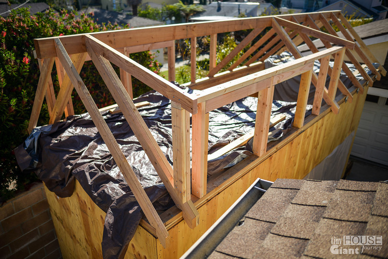 shed dormers framed read more here httptinyhousegiantjourneycom2013 - Tiny House Framing 2