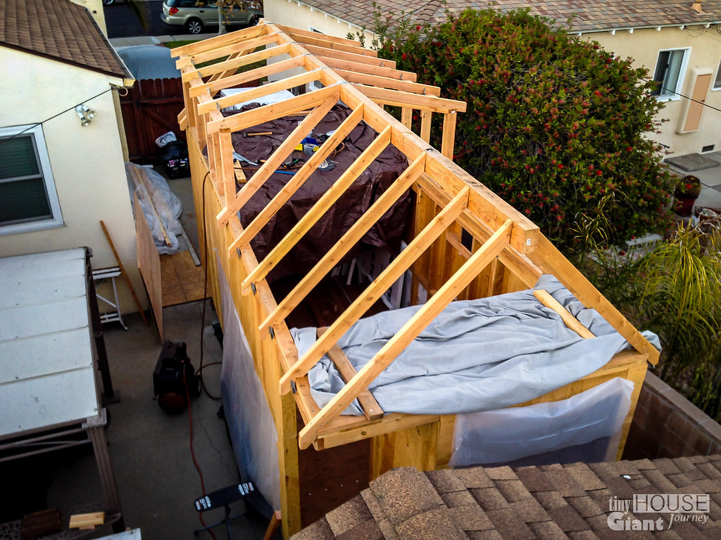 dormers framed read more here httptinyhousegiantjourneycom2013 - Tiny House Framing 2