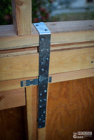 Roof strapping  Read more here: http://tinyhousegiantjourney.com/2013/11/15/strapping-the-roof-bbbbq-8/ Follow us here: www.facebook.com/tinyhousegiantjourney