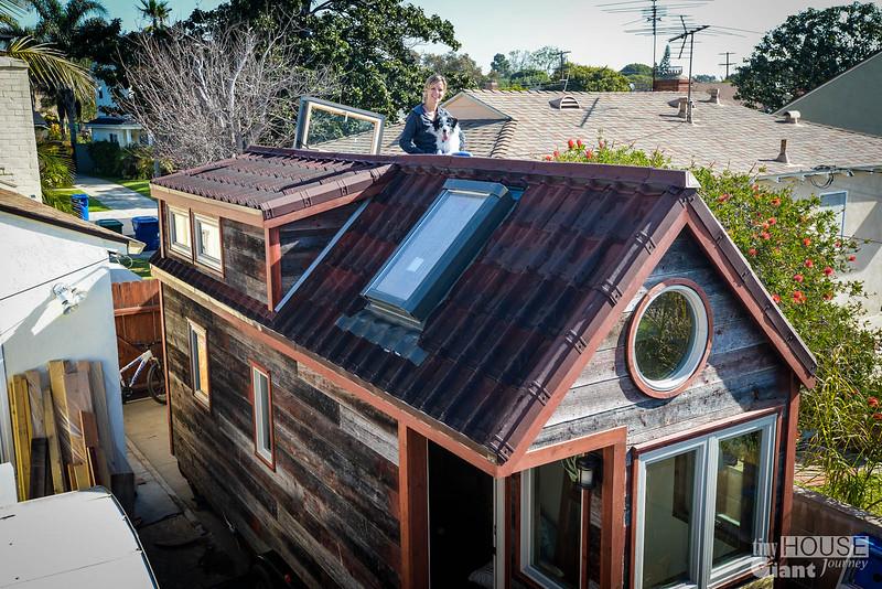 Tiny House Giant Journey Ondura Onduvilla 3D Shingles Roof   0047