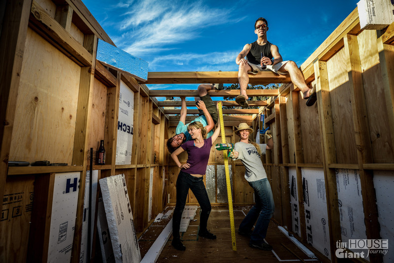 The dream teamRead more here: https://tinyhousegiantjourney.com/2013/10/07/more-sheathing-bbbbq/ Subscribe here: www.facebook.com/tinyhousegiantjourney