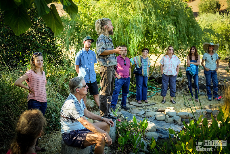 Connor Jones explaining everything about permaculture.  Read more here: http://tinyhousegiantjourney.com/2013/10/28/ojai-green-home-tour/ Follow us here: www.facebook.com/tinyhousegiantjourney
