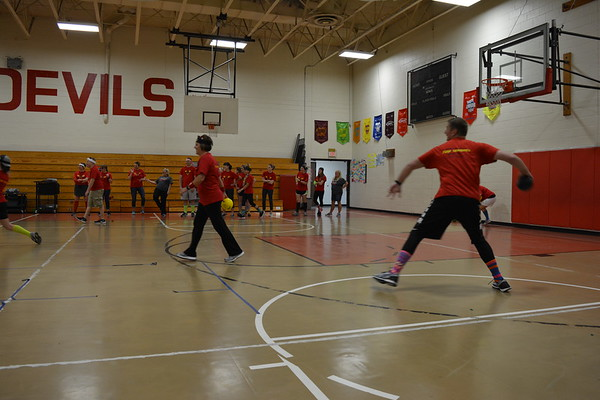 Staff vs. Students Volleyball Game