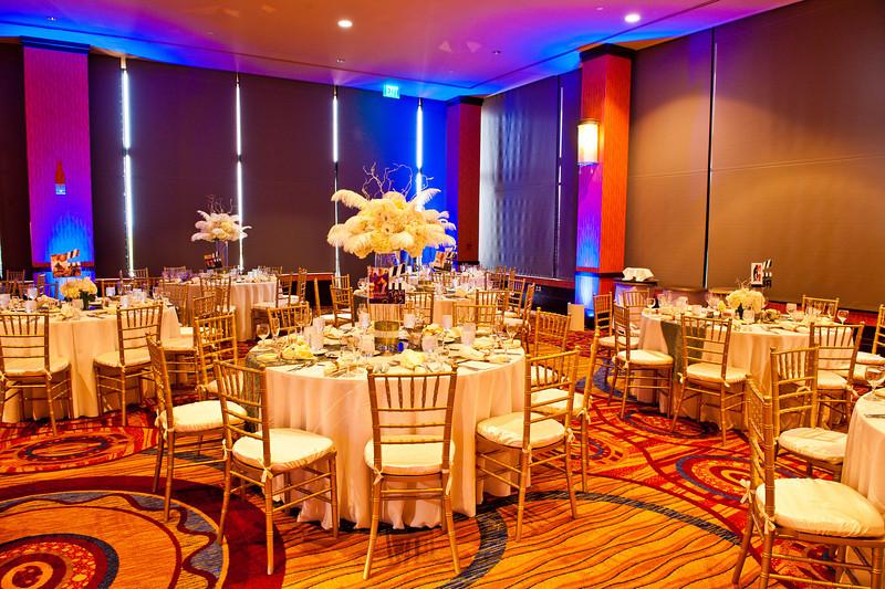 Wedding reception venue decoration