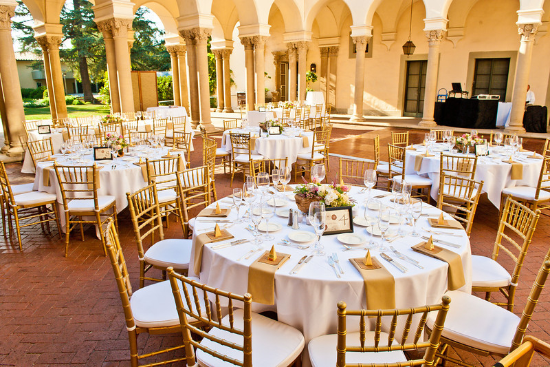 Decoration for wedding reception venue