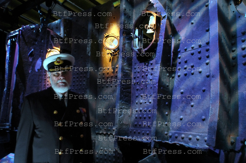 "LOS ANGELES,CA - FEBRUARY 06 : The Big Piece of the Titanic 23 feet by 12 feet and 20 tons during the presentation of  TITANIC "" The Artifact Exhibit at the California Science Center on  February 06, 2003 in Los Angeles , California. (photo by Michel Boutefeu)"