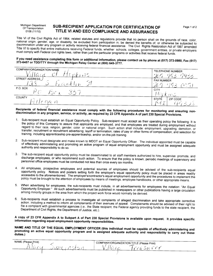 Application Page 1