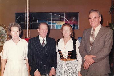 Systkinin Svava, Karl, Gyða og Eiður.