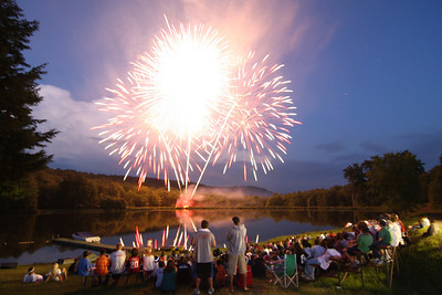 2008 Fireworks<br>Timber Lake West Camp