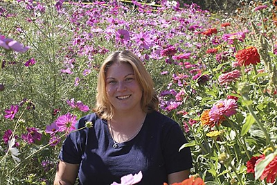 Just me in the flowers at Cal Poly Pomona