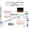 Line Map Of Leg#7 - OUR TRIP OF A LIFETIME - NORTH TO ALASKA