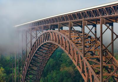 Foggy Morning at New River Gorge BridgeI