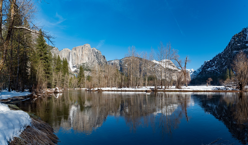 Yosemite Falls and the Merced River