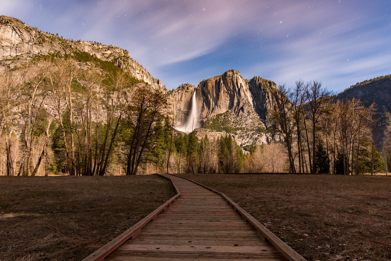 Yosemite Falls taken from Southside Dr.