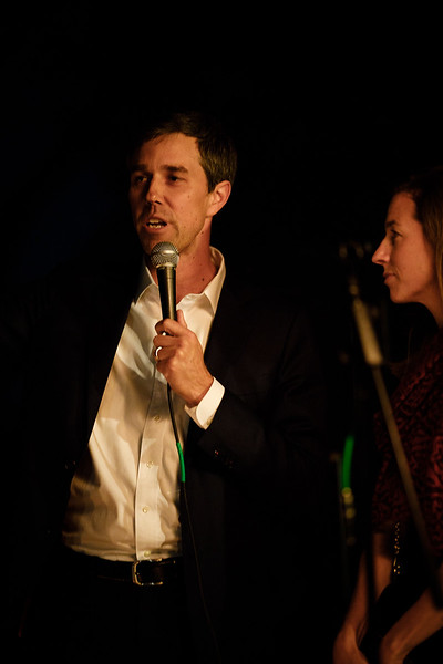 Beto O'Roarke and Amy Hoover Sanders