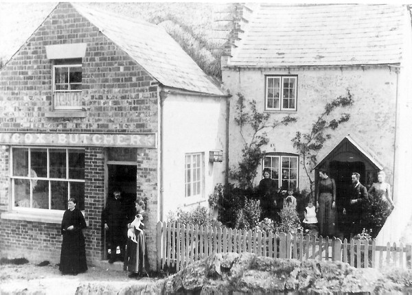 Louis Cox and familiy,Butcher for Badbury 1895
