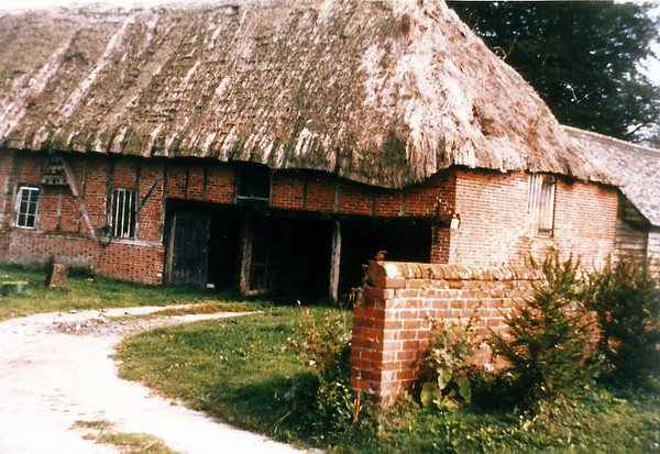 Burderop Tythe Barn 1960,later demolished and rebuilt at Lackham College of Agriculture