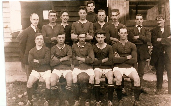 Chiseldon FC with Mr Tatley 1920