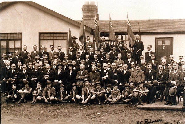 British Legion Members & scouts at the YMCA on Draycott Rd 1932