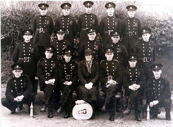 Chiseldon Auxiliary Fire Service with Miss Ward at Chiseldon House 1940
