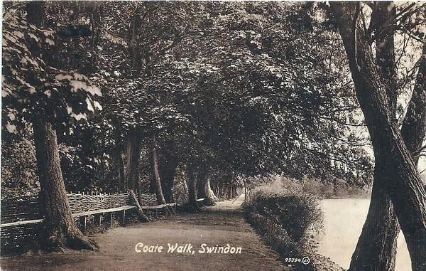Coate Walk showing hurdle fences 1925