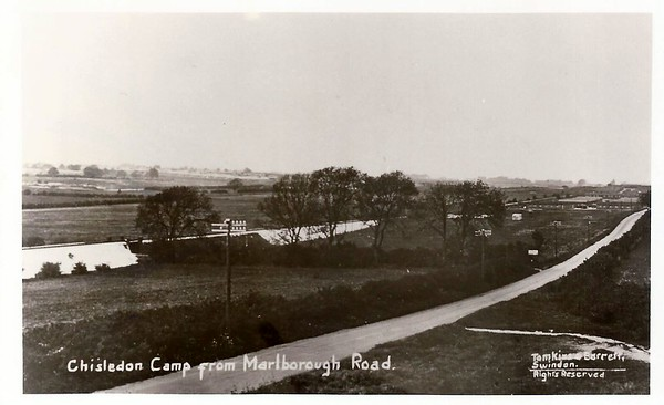 Chiseldon Camp viewed from Marlborough road 1916