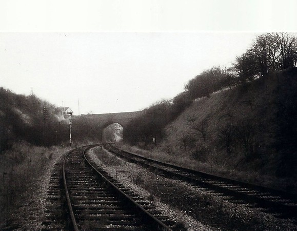Railway cutting showing New Road bridge