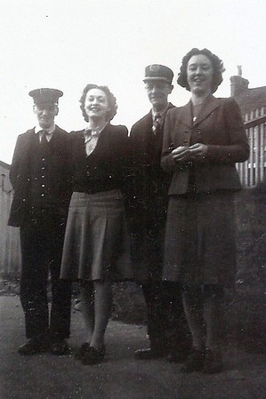 Station staff:Ivor Pritchard,Mr Webb,Edna Griffin and Peggy Webb