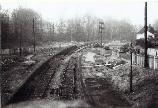 Station long demolished,and the line waiting to be ripped up 1960`s