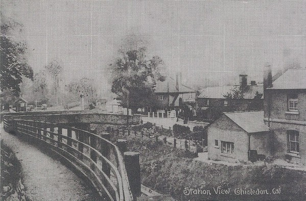 Station view from Canny path 1915