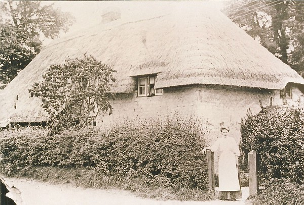 Station Masters cottage with Lillian Davis circa 1905..the former home of the Workhouse Master