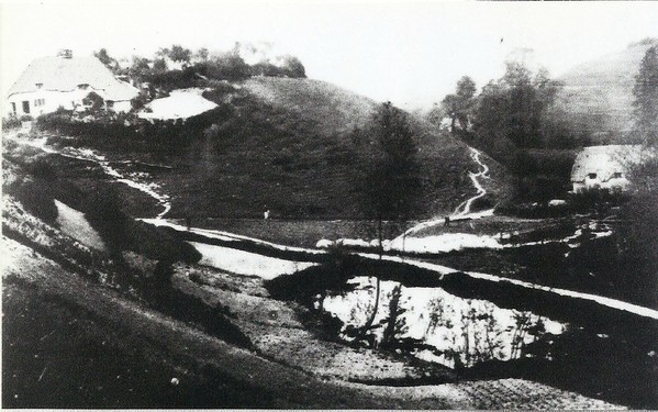 Mount Pleasant before the railway cutting 1878