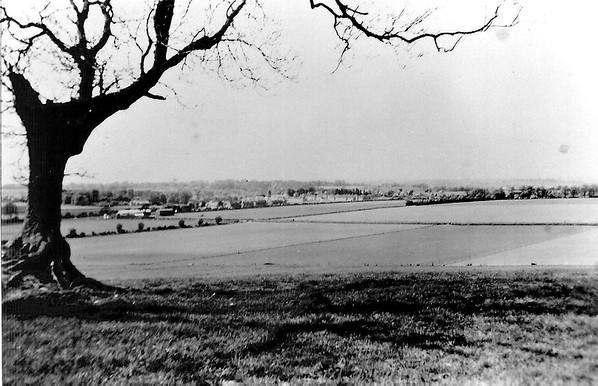View of Chiseldon from Hangman`s Tree up the Folly 1940`s