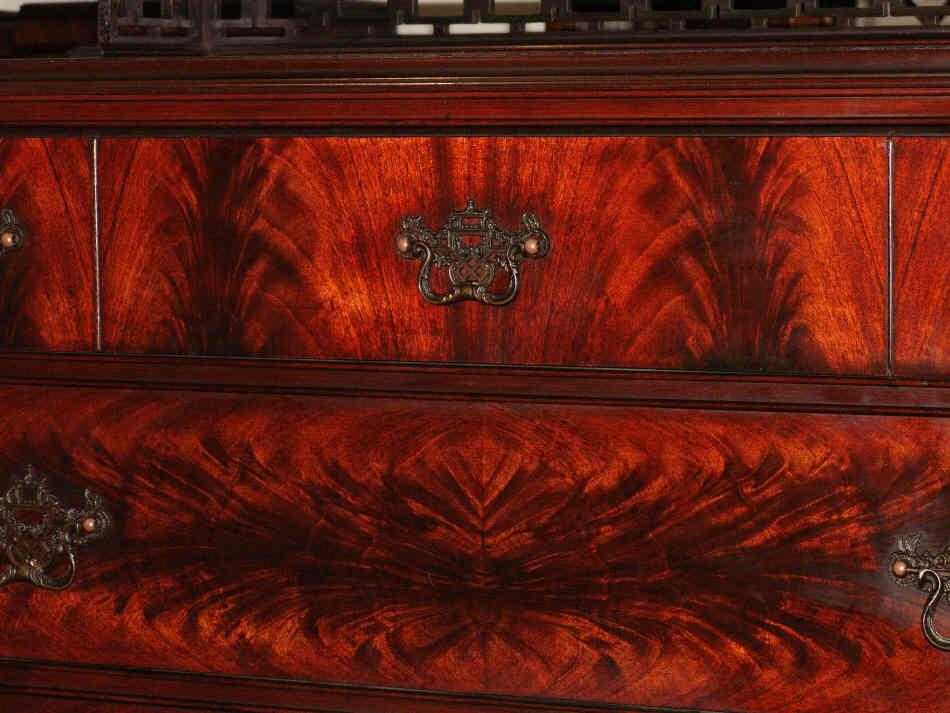 A beautiful flame mahogany bedroom suite