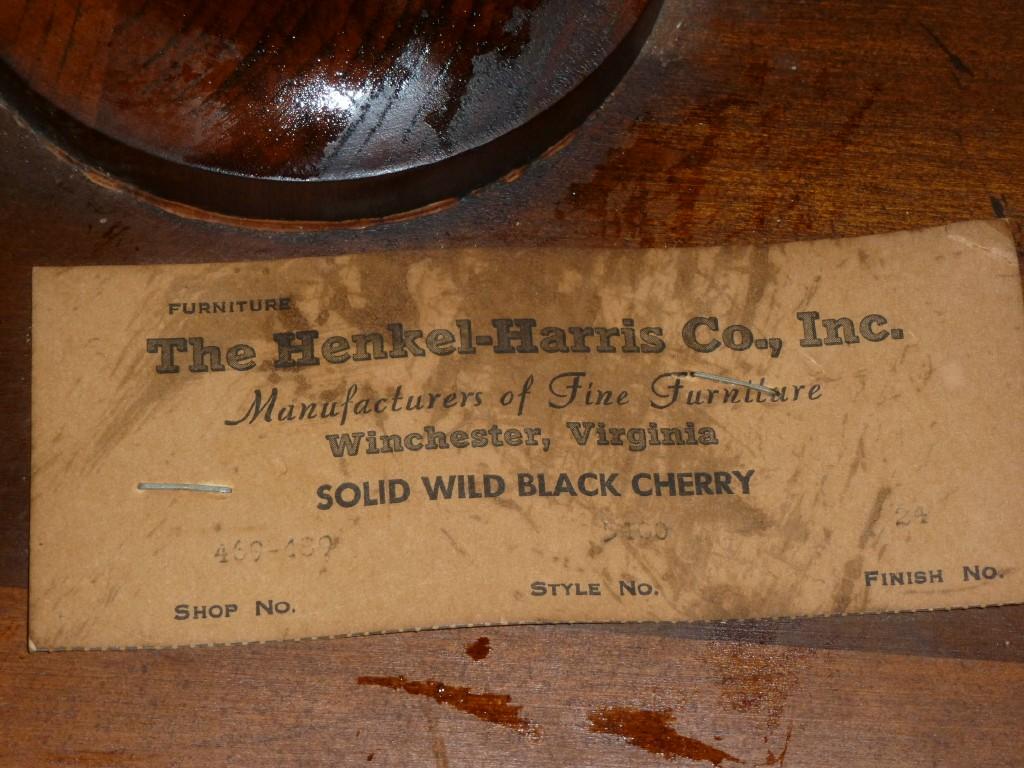 HENKEL HARRIS OCTAGONAL TOP TEA TABLE, SOLID WILD BLACK CHERRY