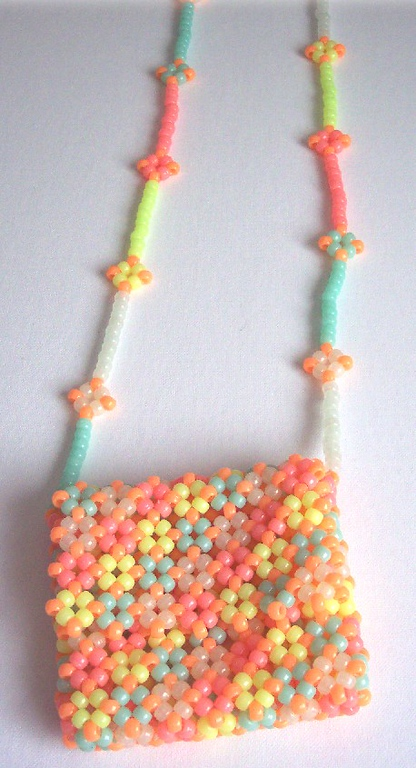Glow in the Dark Purse - Pony Beads