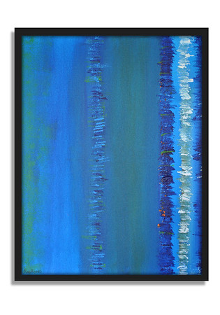"""Blue"" - Acrylic on canvas - (80 cm x 60 cm)"