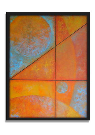 """Moon Over Mars"" - Acrylic on canvas - (80 cm x 60 cm)"