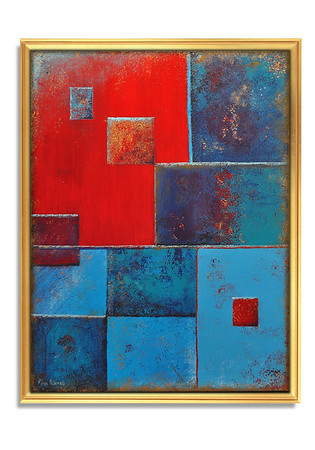 """Cooperation"" - Acrylic on canvas - (80 cm x 60 cm)"