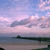 Biloxi Mississippi Pier at sunset