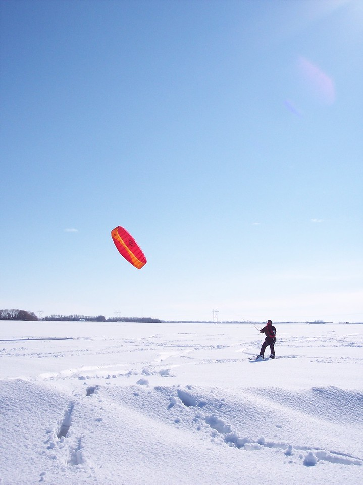 Parasailing Snowboarder