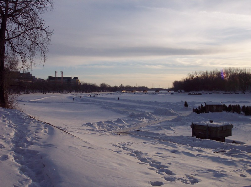 Canada's frozen river