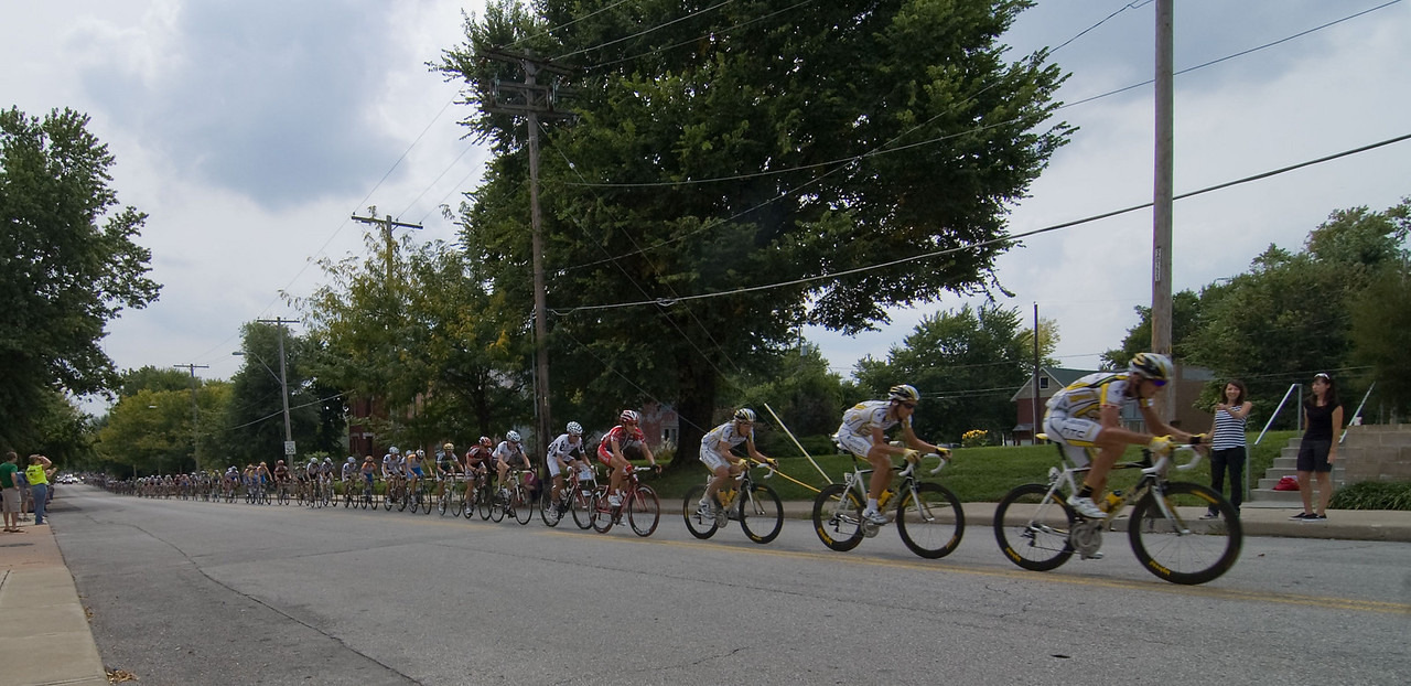 Lap #1 - Columbia HTC up at the front of the field.
